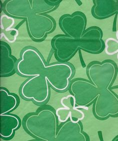 Hand Painted Favor Bags Irish Green Shamrock Thank You