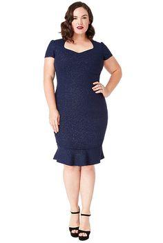 42ed24cf6b2e Modré pouzdrové šaty se třpytkami City Goddess Camelie Cold Shoulder Dress