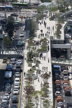 MVRDV completes Seoullo – Seoul's Skygarden #seoul #landscape #architecture #highline #southkorea #7017 #urbanism #planting #people #space #transformation