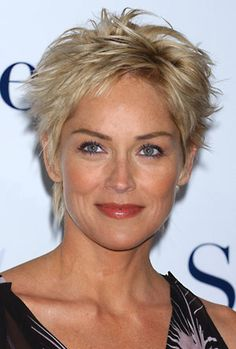Sharon Stone another cute short hair style