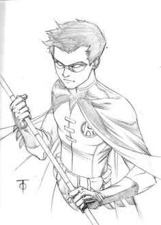 Cool robin coloring pages Robin Drawing, Batman Drawing, Marvel Drawings, Cartoon Drawings, Cool Drawings, Drawing Sketches, Superman Art, Batman Comic Art, How To Draw Superman
