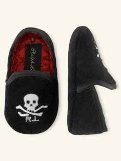 Velvet Skull-and-Bones Slip-On - Layette Shoes - RalphLauren.com