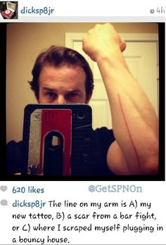 Richard Speight Jr. - #SpnFamily #SpnTweets #SPN I'm going out on a limb here and say it was C