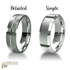 Which band is your man? --- #wedding #ring #menfashion #weddingRing #InfinityRing #men #groom #weddings #weddingday #weddinginspiration #weddingideas #weddingtime #diamonds #diamond #diamondlife #bling #forhim #formen #jewellerydesign #fashionaccessories #jewelleryaddict #instastyle #fashionstyle #igstyle #castletowers #jewellerydesigner