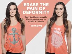 Less than 24 HOURS LEFT to grab one of these limited edition shirts that provide a Mercy Ship surgery for a child with deformities. Act Quick!! ► http://sevenly.org/pinforgood