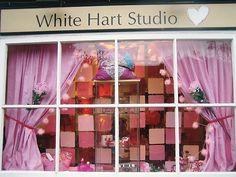Valentine's Day Window Display 2008 for White Hart Studio