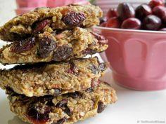 Raw Vegan Lemon Cranberry Raisin Oatmeal Cookies
