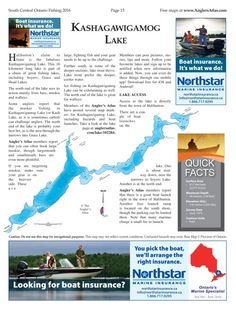 Photo thumbnail: Lake of the Day: Kashagawigamog Lake Fishing Maps, Boat Insurance, Free Maps, Ontario, Ocean, Day, The Ocean, Sea