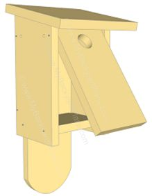 Bird House Plans Bird house plans Use the simple bird house plans from Lowe s to cut and assemble the bird house for bluebirds or Build a Birdhouse in 7 Easy Steps Outdoor Projects, Wood Projects, Outdoor Decor, Bluebird House Plans, Bluebird Houses, Bird House Feeder, Bird Feeders, Bird Houses Diy, Bird Boxes