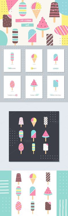 Ice-Cream and Popsicle Vector Set
