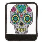 Funky Sugar Skull Design Boho Love Luggage Handle Wrap #halloween #happyhalloween #halloweenparty #halloweenmakeup #halloweencostume