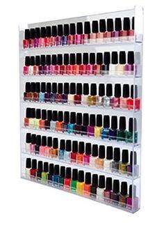 Nagellack Sammler Vitrine / Hängevitrine / Glasvitrine / Wand Regal Miniflaschen oder Sammelfiguren aus Acrylglas, XXL Groß mit 6 Regalböden