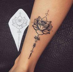 A Simple Lotus Flower on Wrist Tattoo