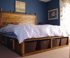 DIY Bed...Storage, storage storage! home-sweet-home