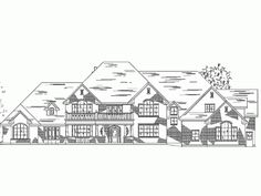 Eplans Traditional House Plan - Traditional Country Luxury Farmhouse - 6785 Square Feet and 7 Bedrooms(s) from Eplans - House Plan Code HWEPL59200