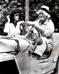 DONOVAN'S REEF - John Wayne - Elizabeth Allen on location in Hawaii - Directed by John Ford - Paramount - Publicity Still.