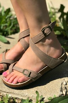 008df8de208 Buckle Up Babe Sandals - Taupe RUNS SMALL. Beautiful SandalsCute SandalsStrappy  SandalsFlat ...