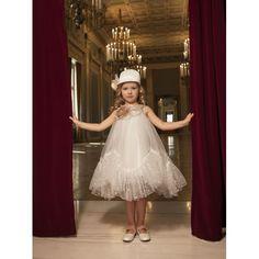 Βαπτιστικό Φόρεμα Dolce Bambini 6040-1 Τούλι Εκρού