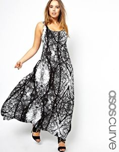 ASOS CURVE Maxi Dress In Spooky Tree Print  $49.06