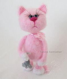 Missi the Cat crochet toy amigurumi PDF pattern by jasminetoys
