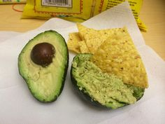 Gluten Free Guacamole Guacamole in the shell - mash, add salt & pepper to taste, and a squirt of lime juice!   Takes only minutes to prepare - great for a snack at work!   Santitas Gluten Free Tortilla Ingredients: Corn, vegetable oil (corn, sunflower, and/or canola), and salt. 4/15