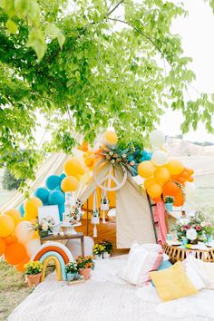 Hippie Birthday Party, Colorful Birthday Party, Hippie Party, First Birthday Parties, Children Birthday Party Ideas, 2nd Birthday, Birthday Ideas, Turtle Birthday, Turtle Party