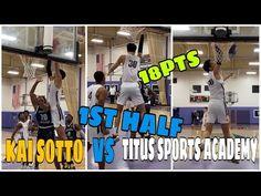 KAI SOTTO 1st half Highlights TSF vs TITUS SPORTS ACADEMY || 7'2 Kai sot... Kai, Highlights, Baseball Cards, Sports, Hs Sports, Excercise, Hair Highlights, Sport, Exercise