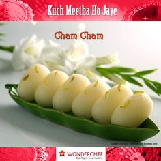 Cham Cham - A mouth-watering Bengali sweet dish prepared with paneer by Chef Sanjeev Kapoor !!