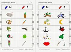 Materialwerkstatt: Anlaute clip cards