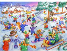 Shop Deluxe Childrens Jigsaw - KidzJigz 80 Piece Fun Jigsaw Puzzle - Fun In The Snow. Free delivery and returns on eligible orders of or more. Speech Language Therapy, Speech Therapy Activities, Writing Activities, Speech And Language, Writing Pictures, Picture Writing Prompts, Jigsaw Puzzle Fun, Four Seasons Art, Communication Orale