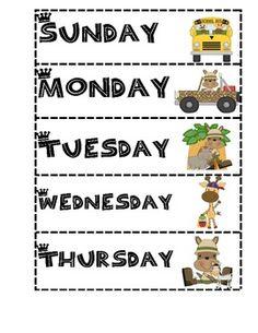 Jungle theme classroom jobs for a pocket chart | Pocket charts, To ...