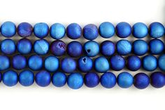 Gorgeous blue druzy gemstone beads from JBCBeads.com! Use these sparkling blue beads for bold bracelets & unique necklaces for your next jewelry project!