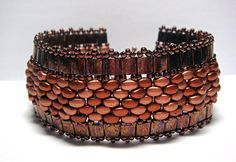 Stunning Tila SuperDuo Band Bracelet by ReggiesCreations on Etsy, $25.00