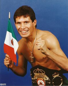Young Julio Cesar Chavez KOs Francisco Tomas da Cruz This Day April 1987 WBC Super Featherweight Title Julio Cesar Chavez 130 lbs Francisco Tomas da Cruz 130 lbs TKO round 3 France Referee: Rudy Ortega WBC Super Featherweight Title Cesar Chavez, Kos, Mexican Boxers, Boxing Highlights, Professional Boxing, Boxing History, Title Boxing, History Magazine, Boxing Champions