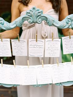 Escort cards: http://www.stylemepretty.com/washington-dc-weddings/2015/03/30/elegant-garden-wedding-in-washington-dc/ | Photography: Abby Jiu - http://www.abbyjiu.com/