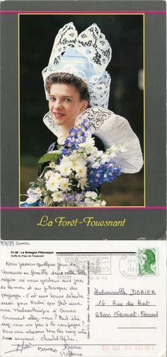 La Forêt-Fouesnant - Coiffe du Pays de Fouesnant - 1989 (from http://mercipourlacarte.com/picture?/178) Édition YCA, Quimper - Photo : Y.-R. Caoudal - La Bretagne Pittoresque Fc 60