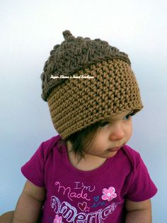 INSTANT Download - Acorn Hat CROCHET PATTERN Pdf File - 6 Sizes included: from Newborn to Adult - Permission to sell finished item by AmandaMoutosDesigns https://www.etsy.com/listing/83007755/instant-download-acorn-hat-crochet?ref=shop_home_active