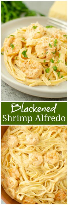 Blackened Shrimp Alfredo – classic shrimp alfredo with a spicy kick! Quick, easy, and on the table in about 30 minutes.