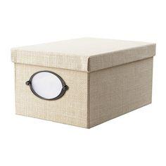 KVARNVIK Box with lid - white - IKEA