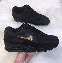 size 40 a9592 f6e4b Nike Air Max 90 - schwarz schwarz schwarz mit Rose Gold SWAROVSKI® Xirius