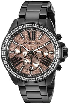 Michael Kors Women's MK5879 Wren Analog Display Analog Quartz Black Watch