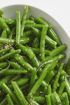 Quick and easy green beans pan-fried in garlic butter are a simple side dish for the Thanksgiving or weeknight table. Dinner Side Dishes, Dinner Sides, Vegetable Sides, Vegetable Side Dishes, Vegetable Recipes, Vegetarian Recipes, Healthy Recipes, Colliflower Recipes, Salad Recipes