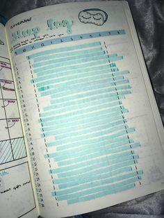 november bullet journal sleep log