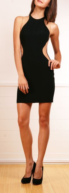 Stella McCartney black dress with blush mesh panels- rayon, acetate, elastane, polyamide & wool. Mesh shoulder and side panels. Concealed zipper down back. This sleek and sophisticated dress looks fresh and sexy because of the mesh panels. So modern looking!