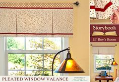 Looking for a pretty window treatment without a lot of fuss? This pleated window valance from Sew4Home is a gorgeous way to finish a window, and the directions are meticulous.