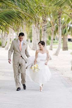 A trip down the aisle.  Read more - http://www.stylemepretty.com/2013/08/20/punta-cana-wedding-from-angie-silvy-photography/