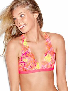 22d53bd51d6a1 Lacy plunge bralette from Victoria s Secret PINK. I saw this one in store  and fell