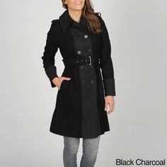 @Overstock - This Vince Camuto trench coat features a double-breasted button closure with a self-belt for a more feminine fit. Constructed of a soft wool blend, this trench coat is comfortable and warm.   http://www.overstock.com/Clothing-Shoes/Vince-Camuto-Womens-Double-breasted-Trench-Coat/7402188/product.html?CID=214117 $107.99
