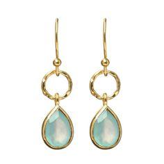 hardtofind.   $95 Pendulum earrings chalcedony