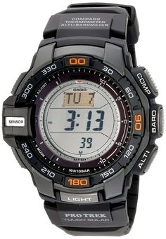 """Casio Men's PRG-270-1 """"Protrek"""" Triple Sensor Multi-Function Digital Sport Watch. I'd love to get this watch. It's only $135-ish. Sadly, I don't really need it and it wouldn't quite fit under a shirt cuff. Oh well."""